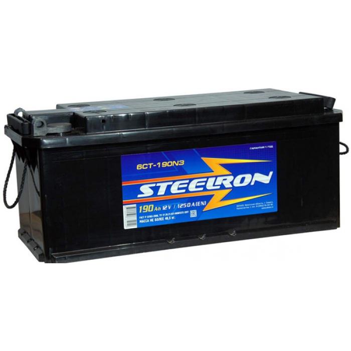 Аккумулятор STEELRON  L+ 190Ah