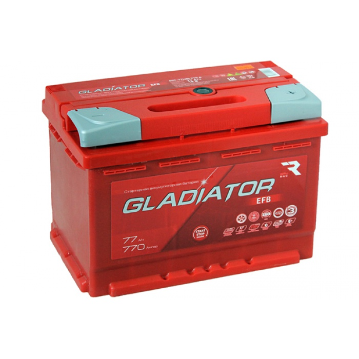 Аккумулятор Gladiator  EFB 0Ah