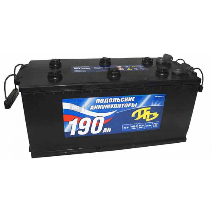 Аккумулятор Подольск  ПАЗ 190Ah