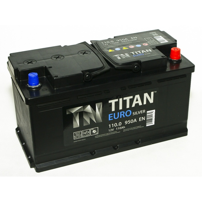 Аккумулятор  Титан ЕВРО Silver 110Ah