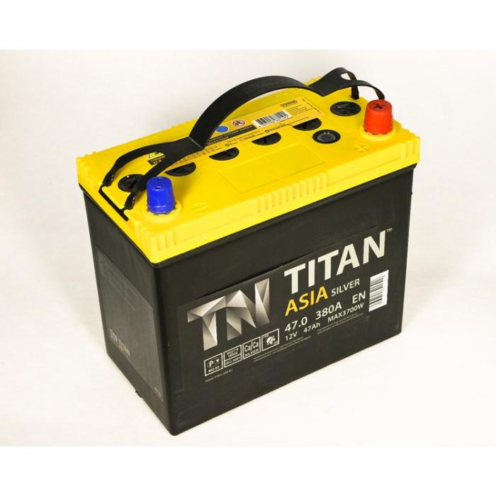 Аккумулятор  Титан Азия Silver 47Ah