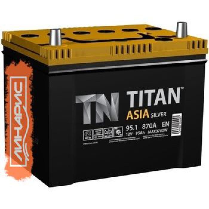 Аккумулятор  Титан Азия Silver 100Ah