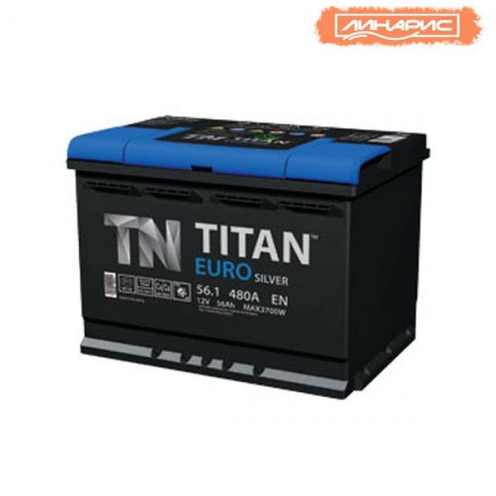 Аккумулятор  Титан ЕВРО Silver 56Ah