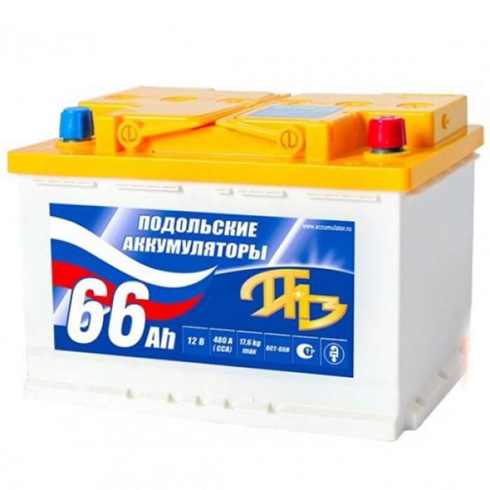 Аккумулятор Подольск  ПАЗ 55Ah