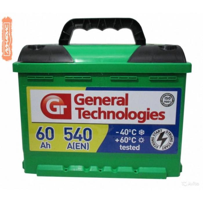 Аккумулятор General Technologies Asia Курск  62Ah