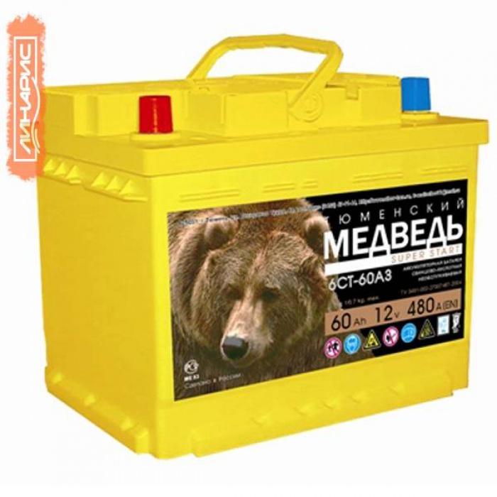Аккумулятор Тюменский Медведь  0Ah