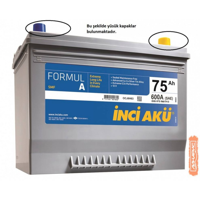 Аккумулятор Inci FormulA  62Ah