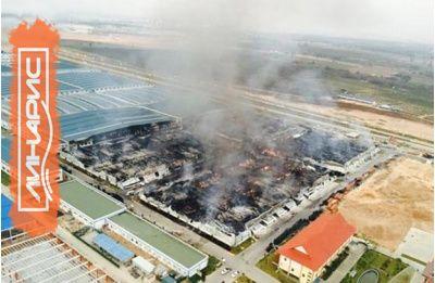 Шинный завод Linglong в Тайланде временно приостановил работу из-за пожара