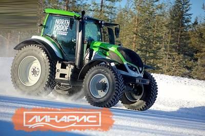 Новый рекорд максимальной скорости для тракторов на шинах Nokian